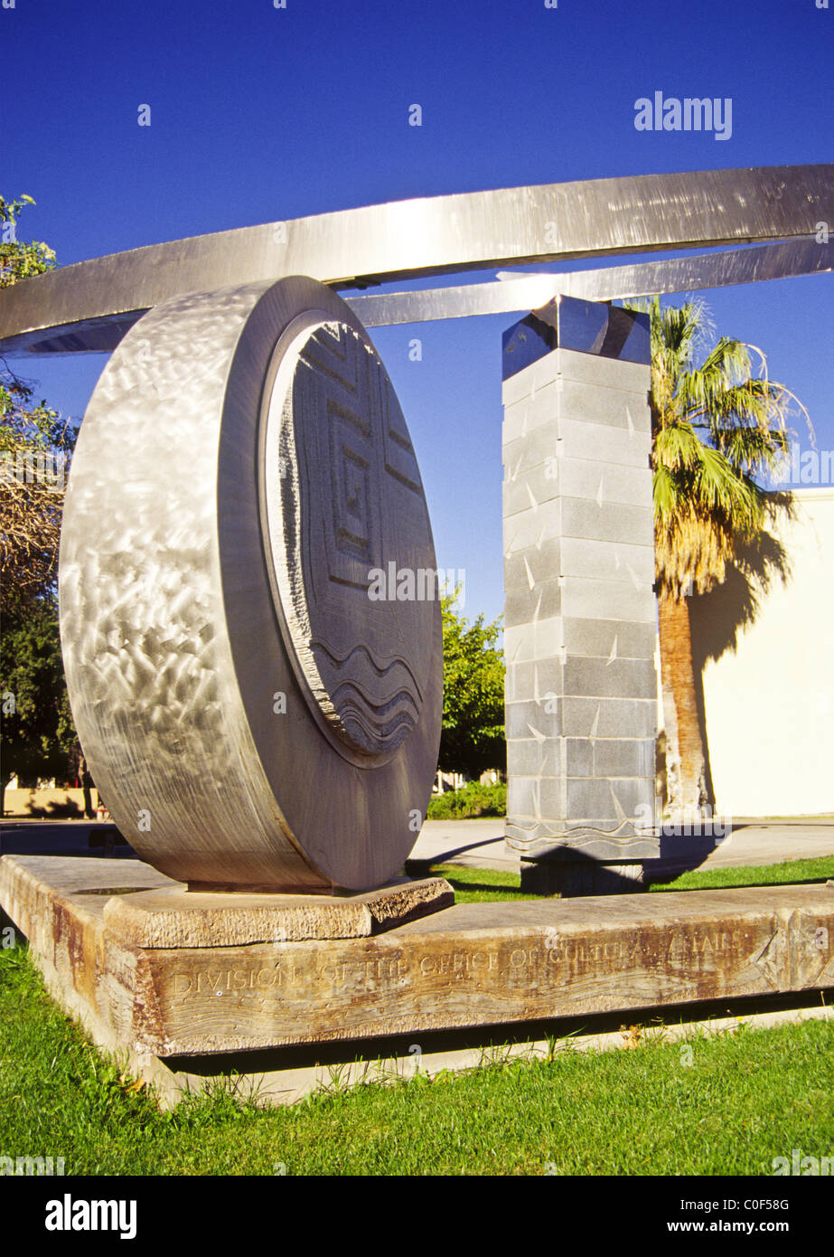 Impressive Sculpture Graces The Campus Of New Mexico State Stock Photo Alamy