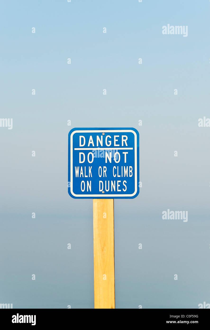 Ironic signage. - Stock Image