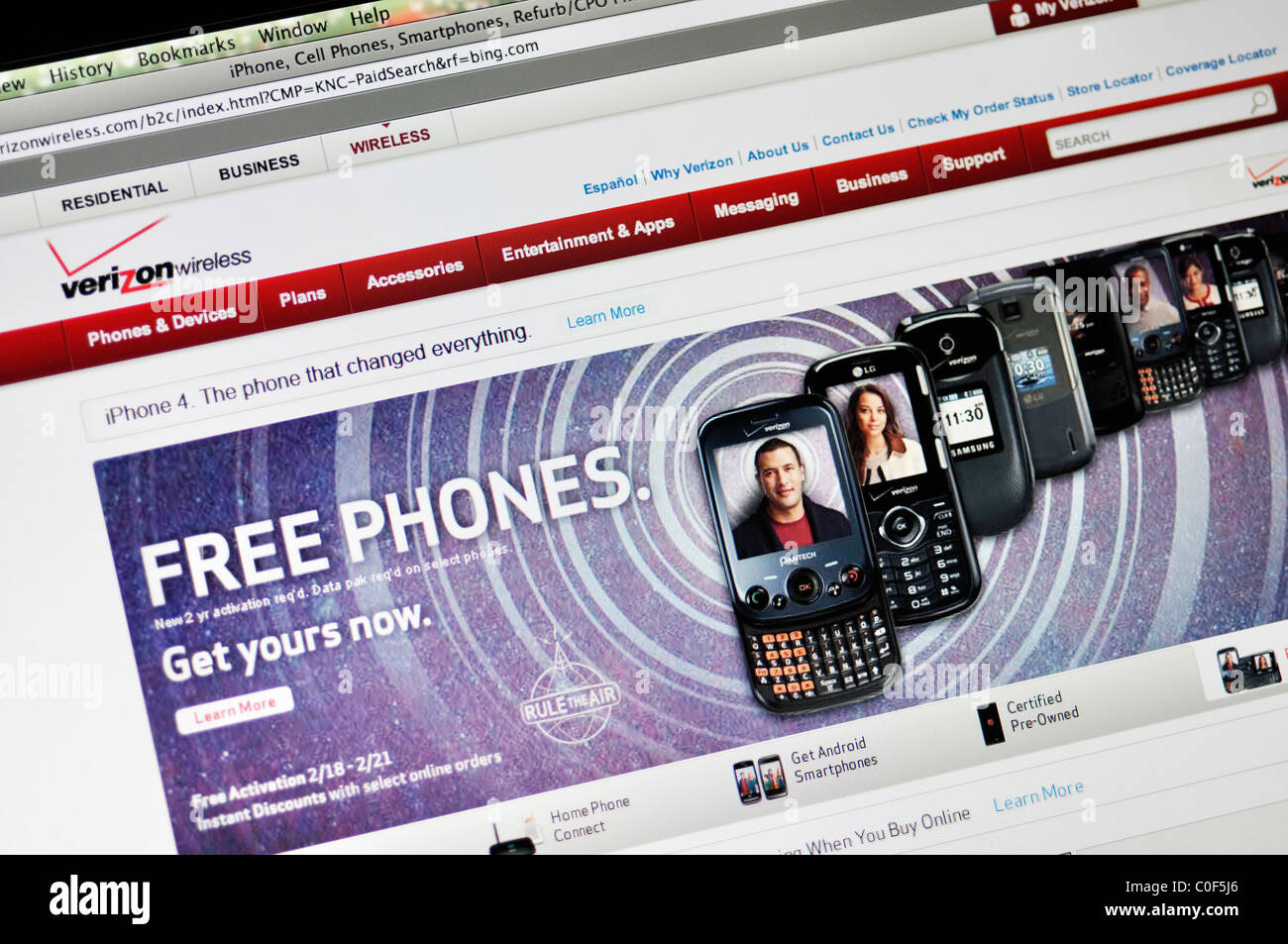Verizon website Stock Photo: 34754446 - Alamy