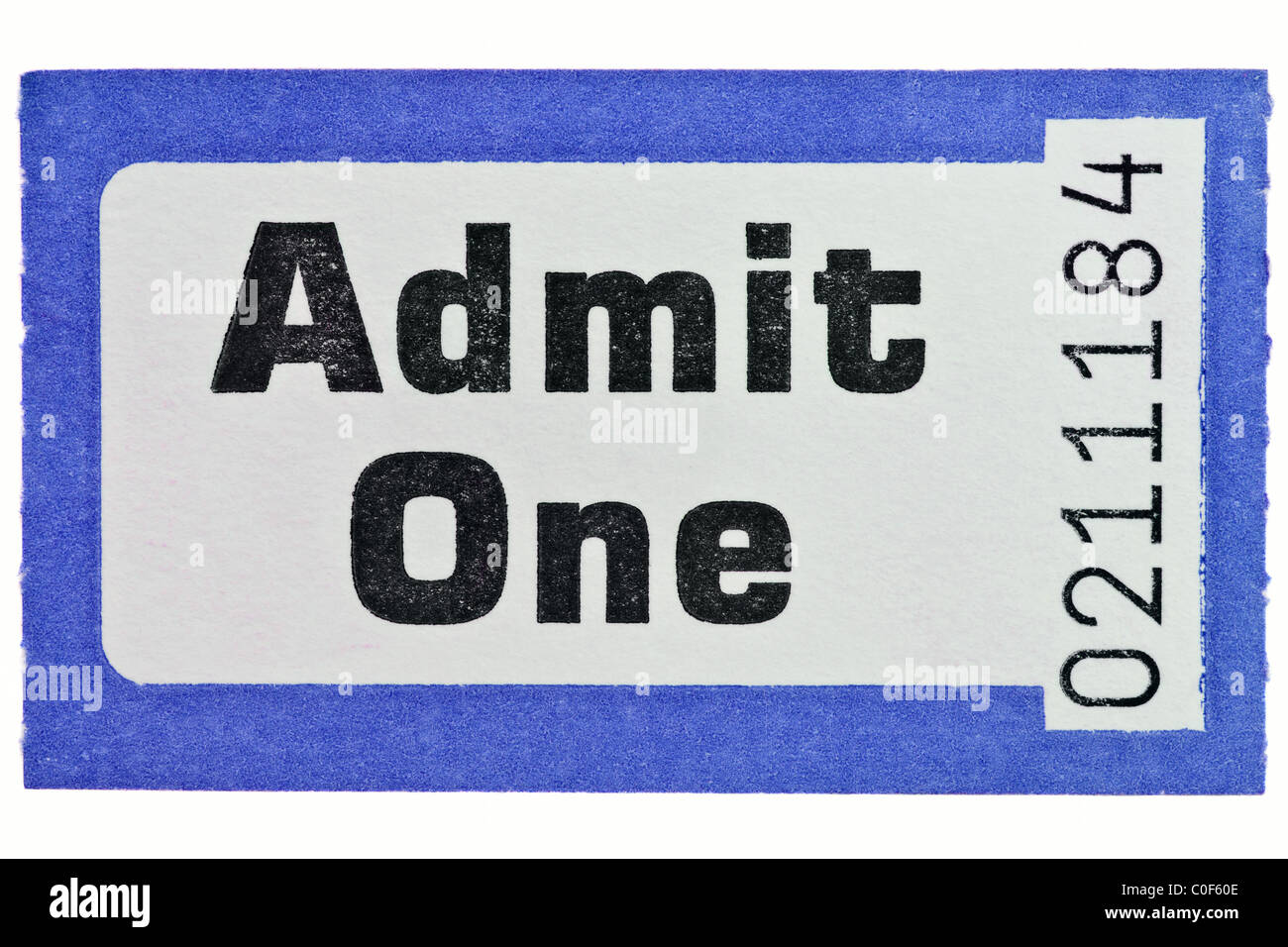 admit one ticket stock photos admit one ticket stock images alamy
