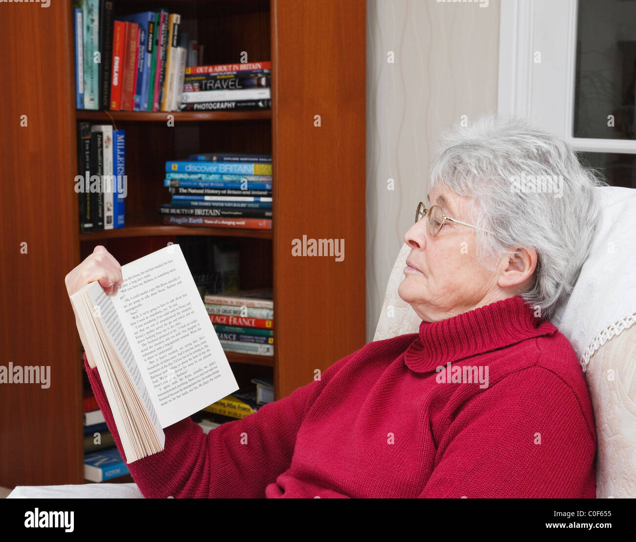 elderly lady sitting in a chair stock photos  u0026 elderly