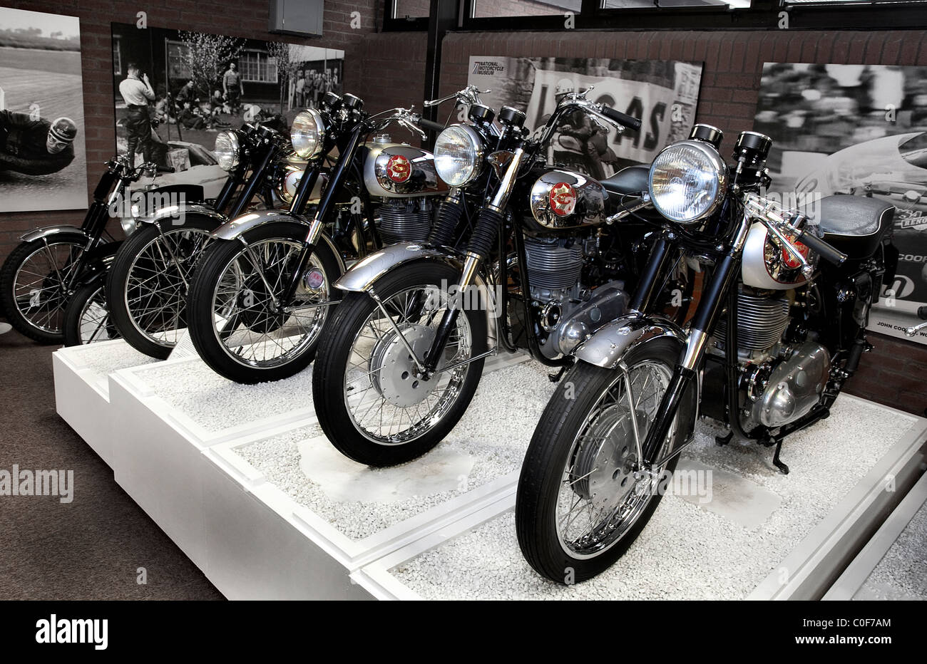 National Motorcycle Museum >> Bsa Gold Star Motocrycles At The National Motorcycle Museum Stock