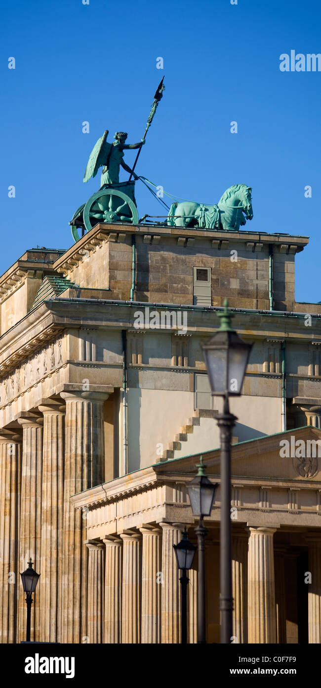 Berlin brandenburg gate ,quadriga , Reichtstag dome Stock Photo