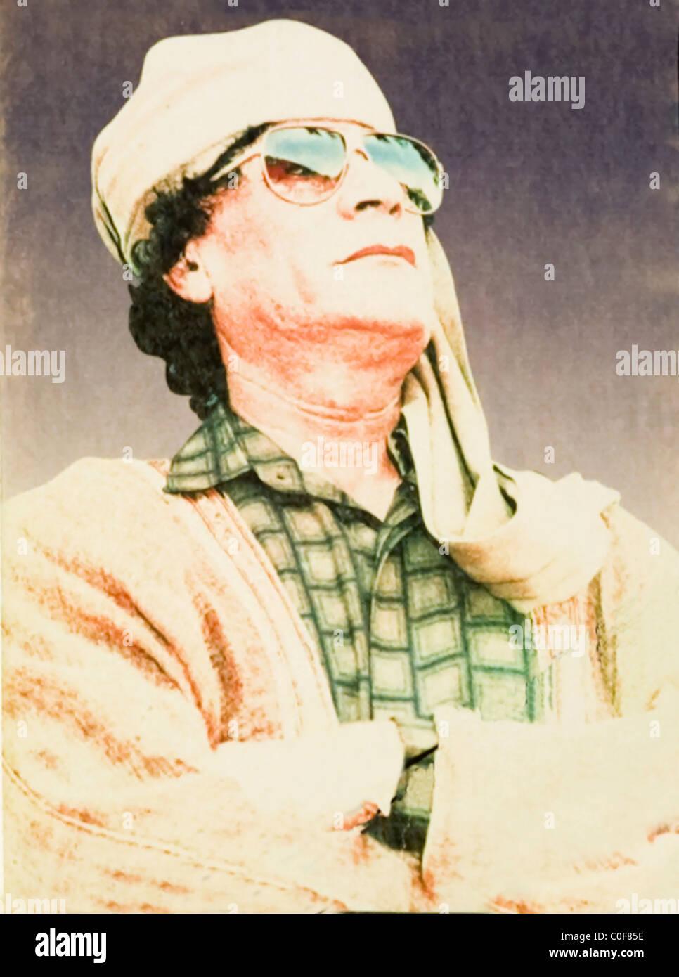 Libyan leader Colonel Gaddafi - Stock Image