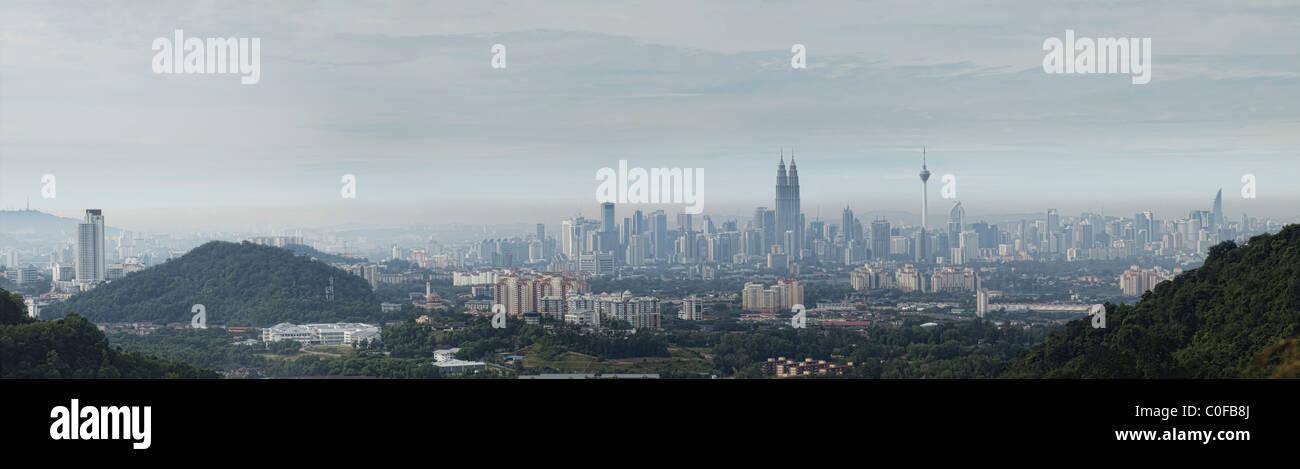 Kuala Lumpur skyline - Stock Image