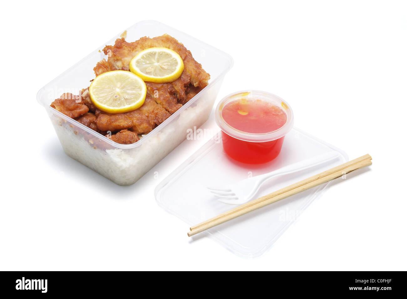 Chinese Takeaway Food - Stock Image