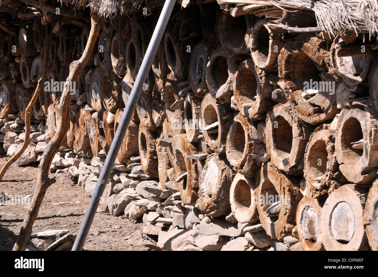 Bee hives. The Sultanate of Oman. - Stock Image