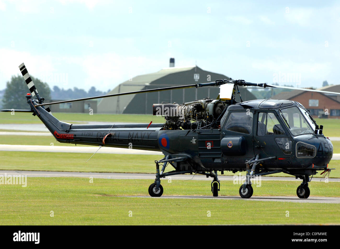 Helicopter, Westland Wasp anti-submarine helicopter - Stock Image