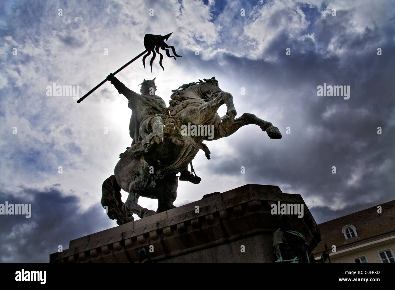 Statue of William the Conqueror in Falaise, northern France Stock Photo