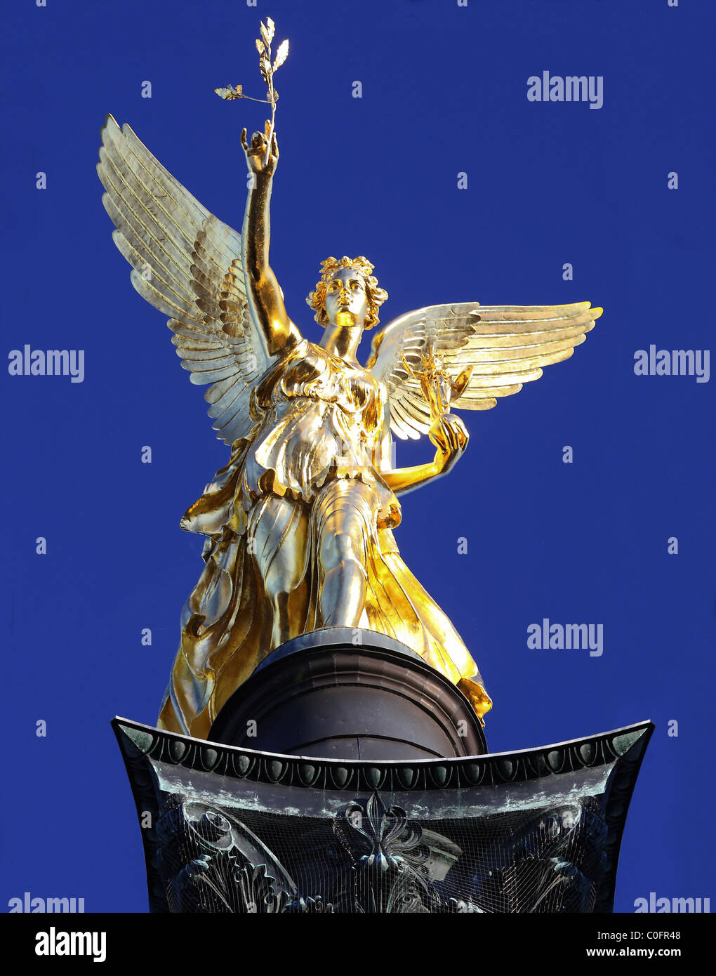 Angel of Peace statue (Friedensengel) in Munich, Germany, Europe Stock Photo