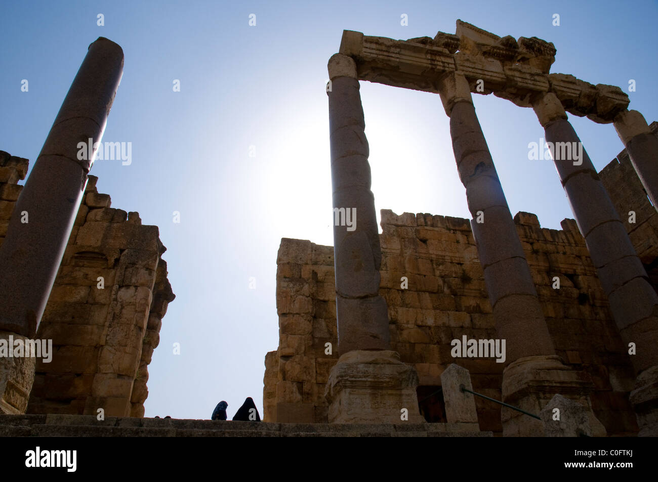 Archaeological site of Baalbek,UNESCO World Heritage Site. Bekaa valley. Lebanon. - Stock Image