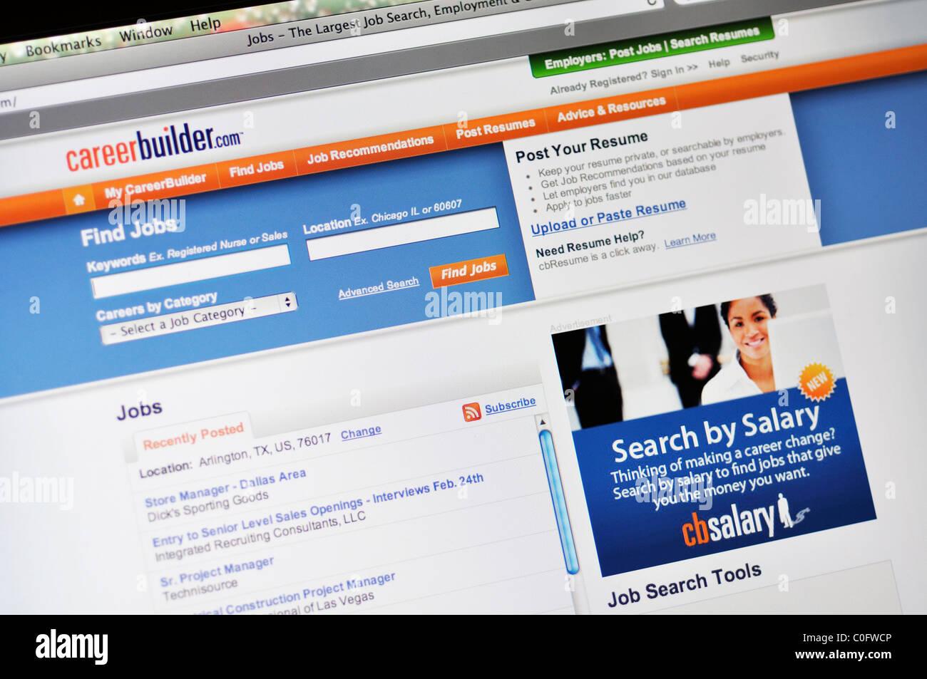 Career Builder job search website - Stock Image