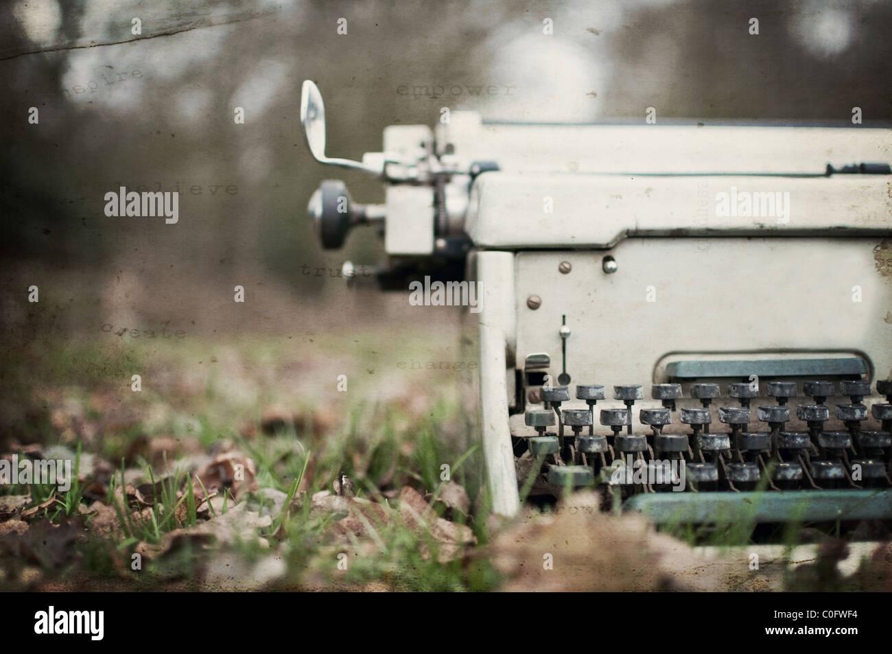 Textured vintage typewriter - Stock Image