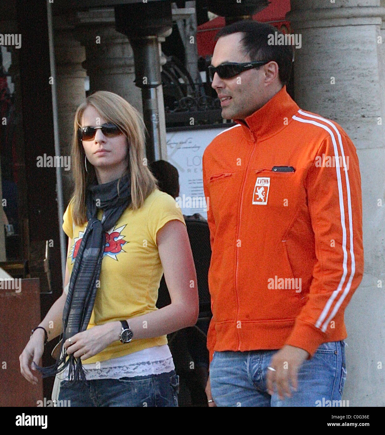 James Haven Voigt and a mystery woman at the Grove in West Hollywood Los Angeles, California - 09.06.08 : - Stock Image