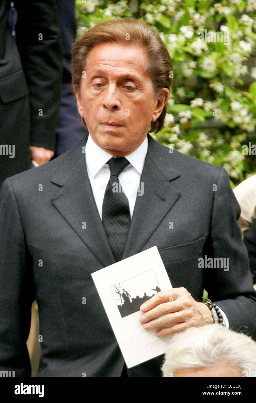 Valentino Garavani attend the funeral of French fashion designer Yves Saint  Laurent at the Church Saint Ruch 4f5d221f89892