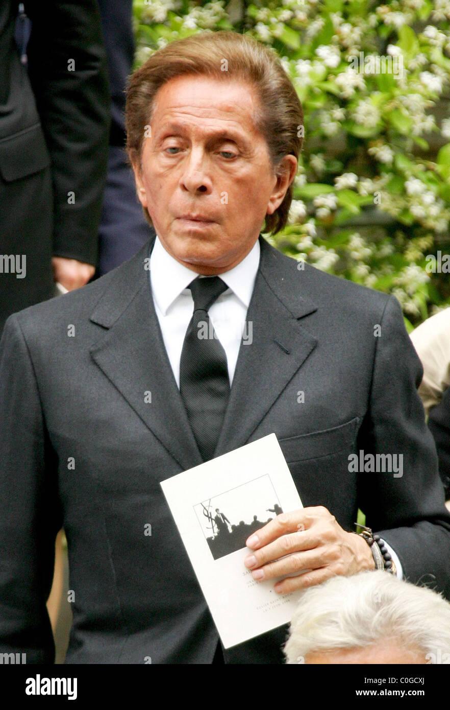 bca82bf873b5 Valentino Garavani attend the funeral of French fashion designer Yves Saint  Laurent at the Church Saint Ruch