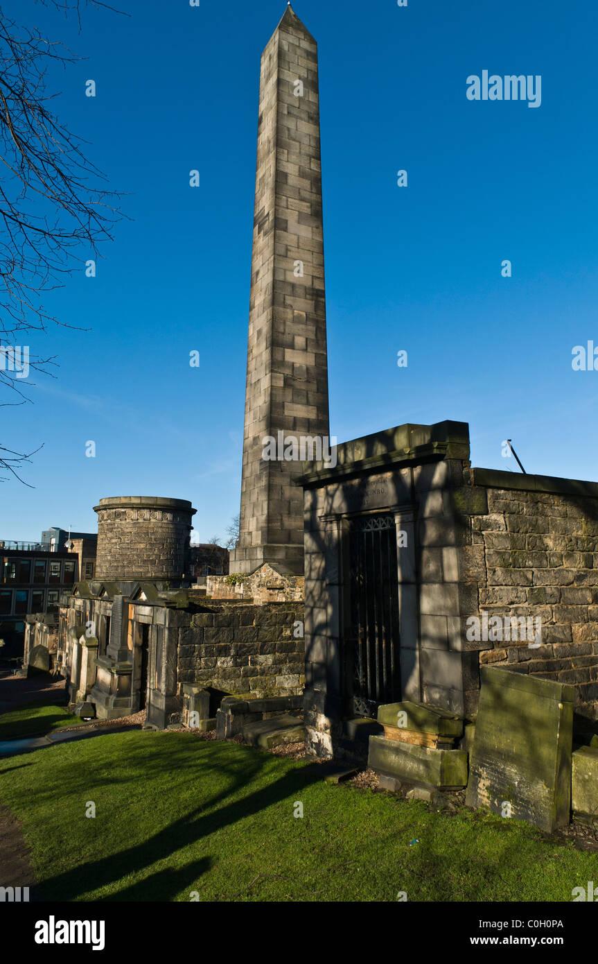dh  CALTON CEMETERY EDINBURGH Old graveyard mausoleums burial ground Stock Photo
