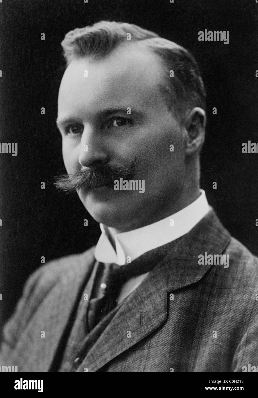 Swedish engineer and industrialist Nils Gustaf Dalen (1869 - 1937) - winner of the Nobel Prize in Physics in 1912. - Stock Image