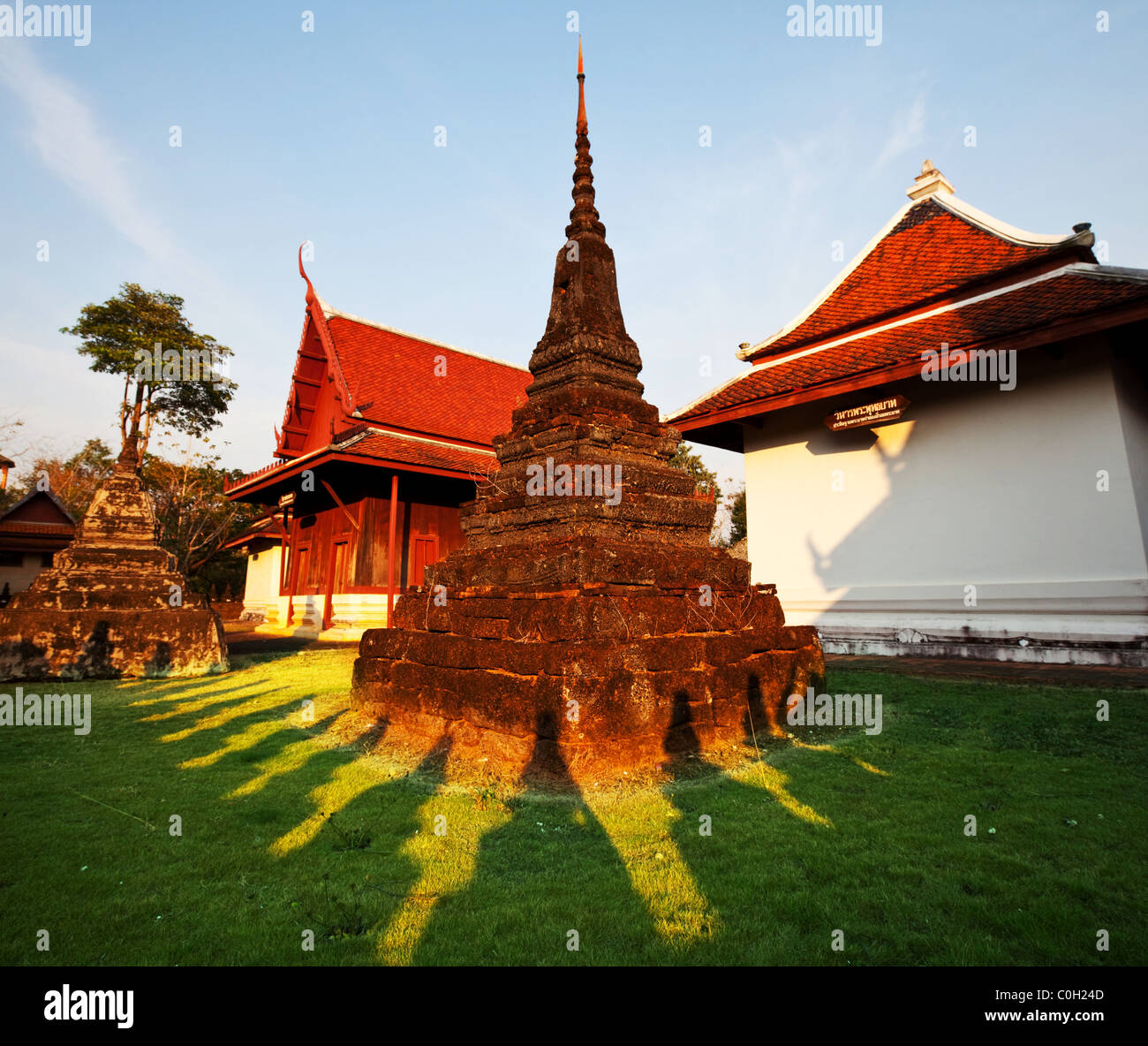 Temple in Trat, Thailand - Stock Image