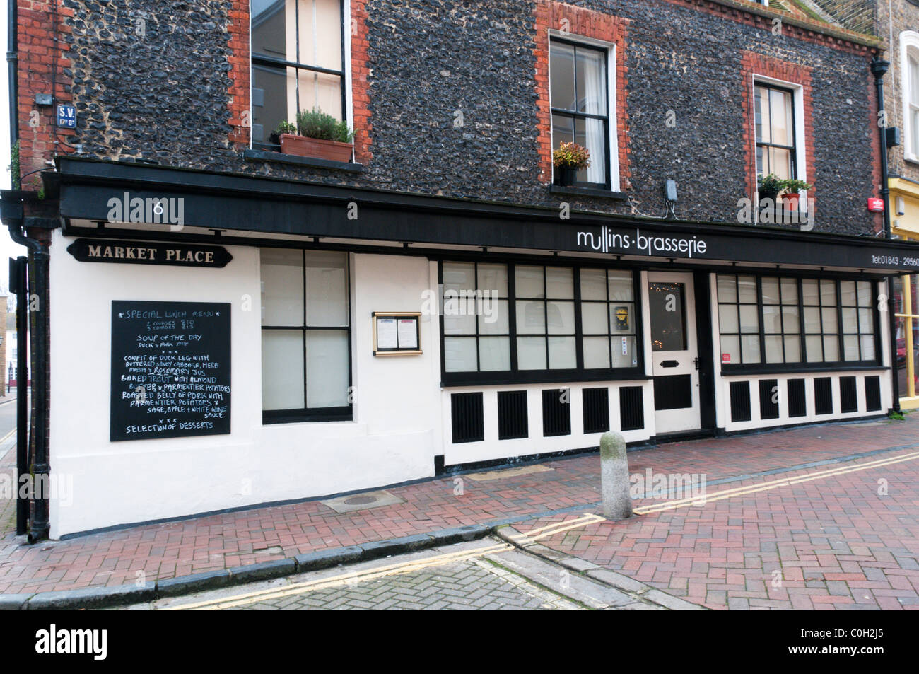 Mullins Brasserie in the old town of Margate - Stock Image
