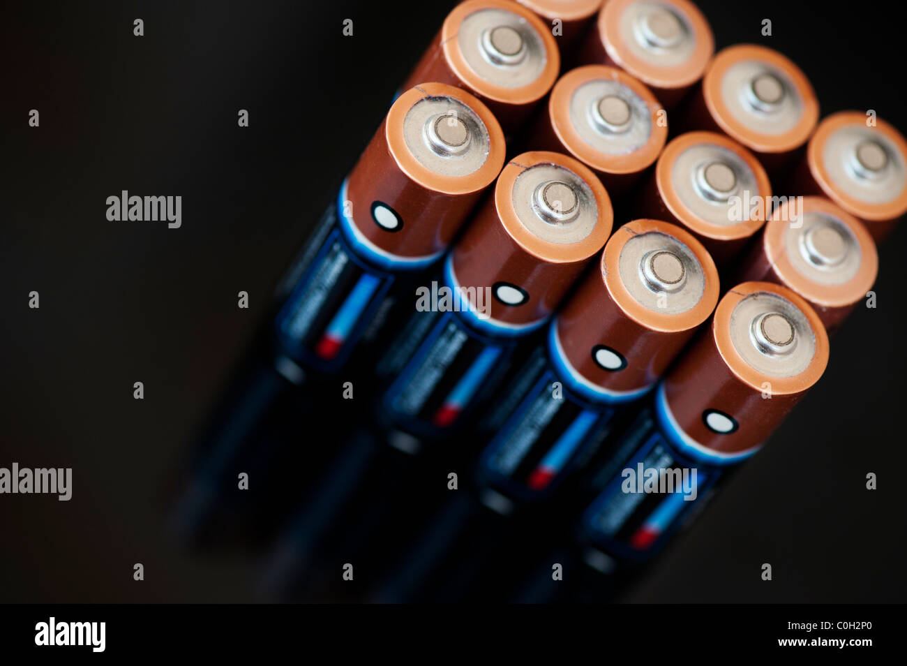 Duracell batteries abstract - Stock Image
