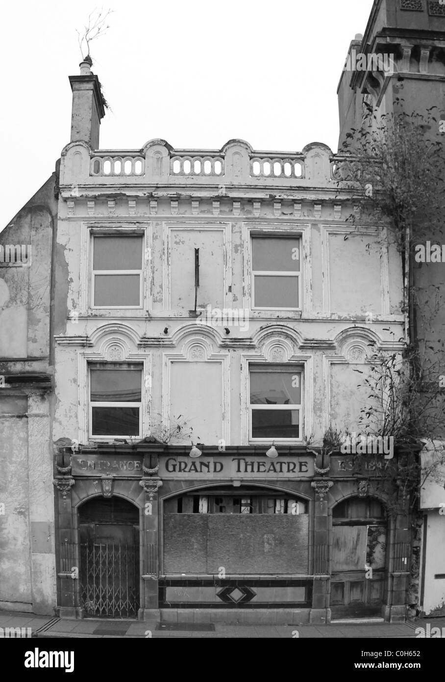 Union Street, Plymouth, Old Theatre - Stock Image
