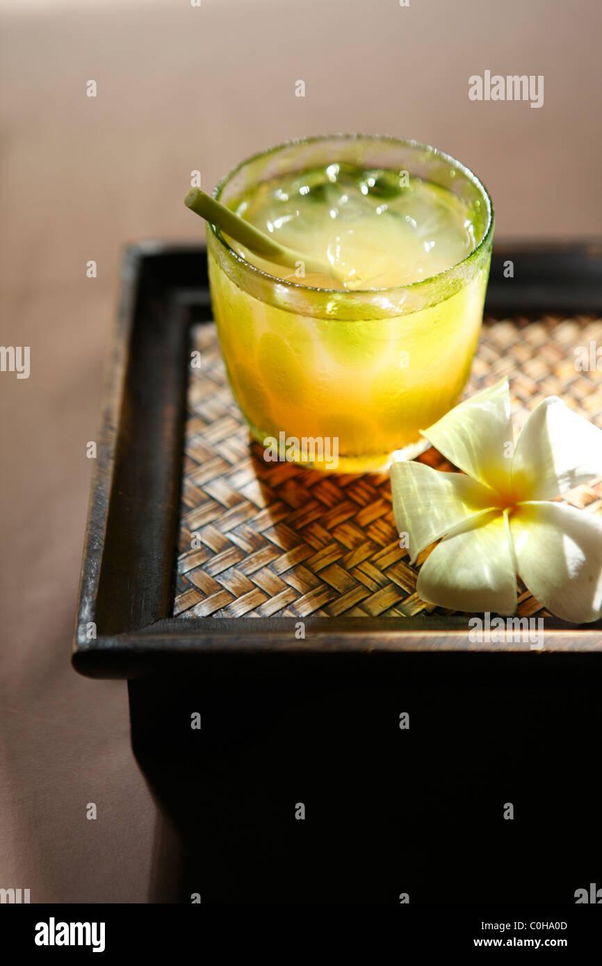 Iced ginger tea - Stock Image