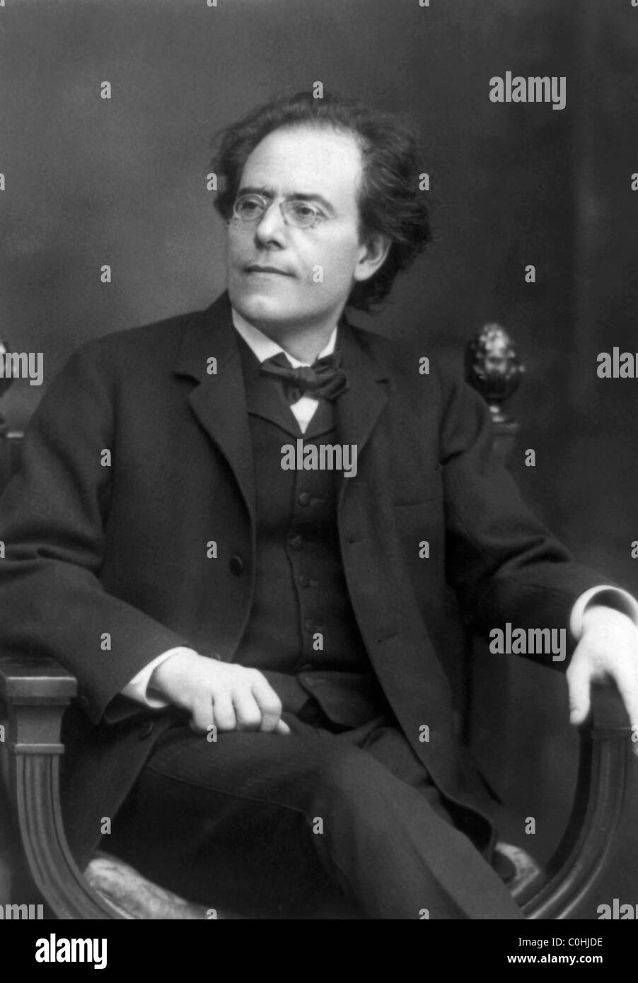 Vintage portrait photo circa 1909 of Austrian composer and conductor Gustav Mahler (1860 - 1911). Stock Photo