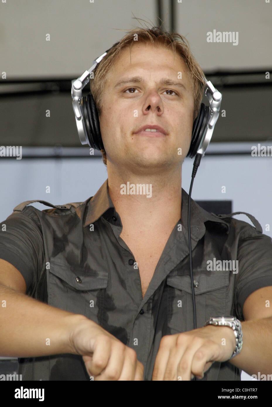 Trance music producer and DJ, Armin van Buuren plays at McCarren