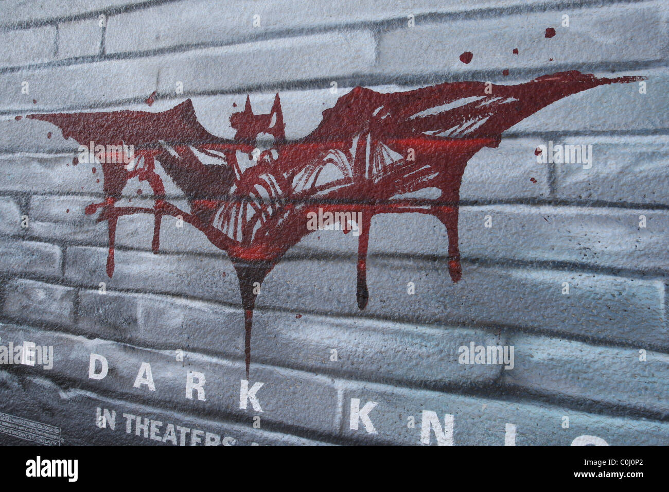 Graffiti Style Poster Promotion For The New Batman Movie The Dark Knight On Melrose Ave West Hollywood California