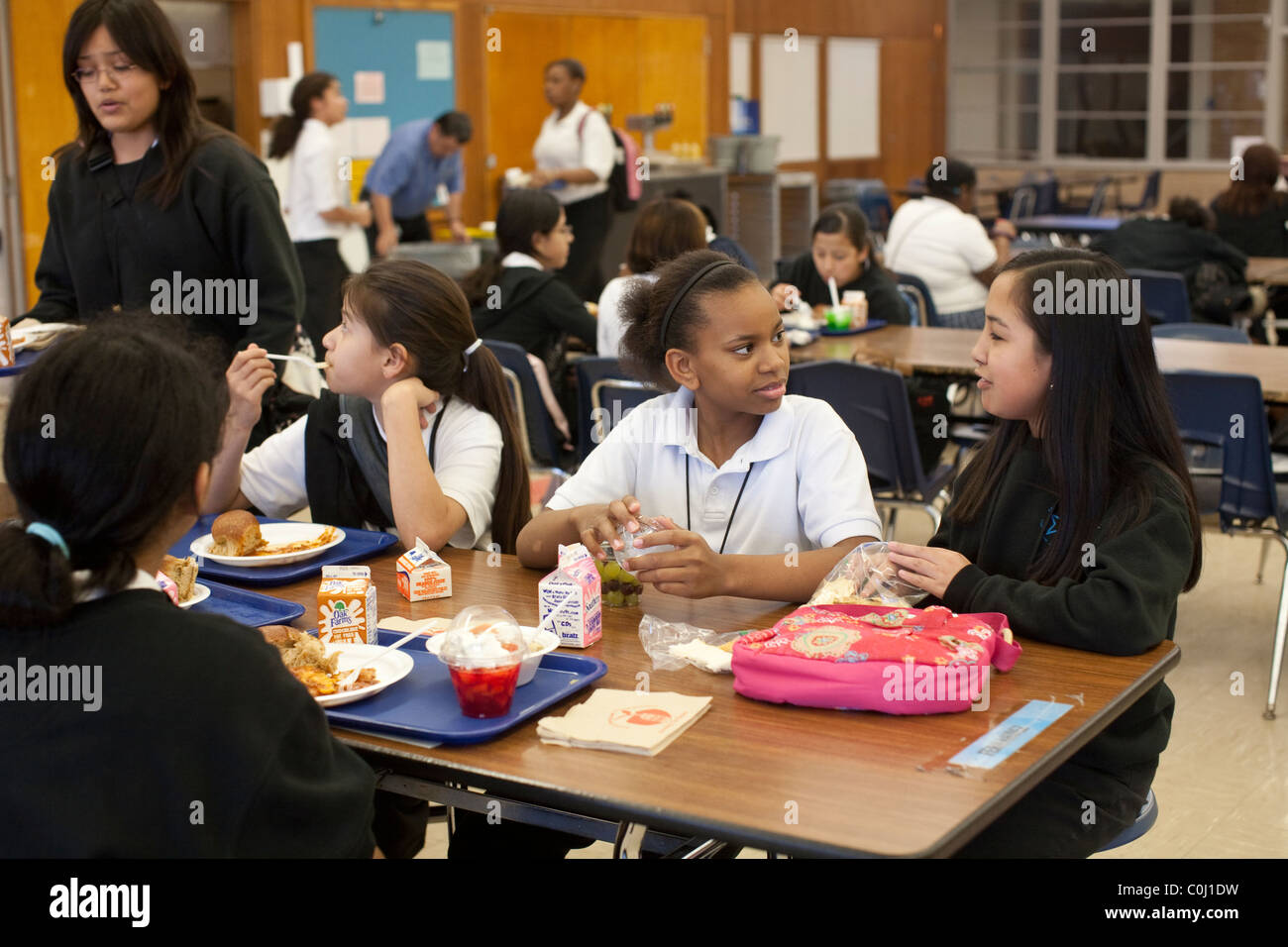 middle school lunch table. Interesting Table Middle School Girls Socialize During Lunch In The Cafeteria At Ann  Richards School For Young Women Leaders Austin Texas Throughout Lunch Table N