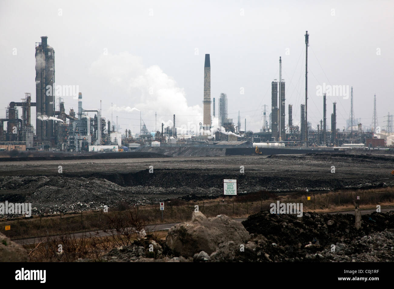 Petro-chemical works on Teesside, England - Stock Image