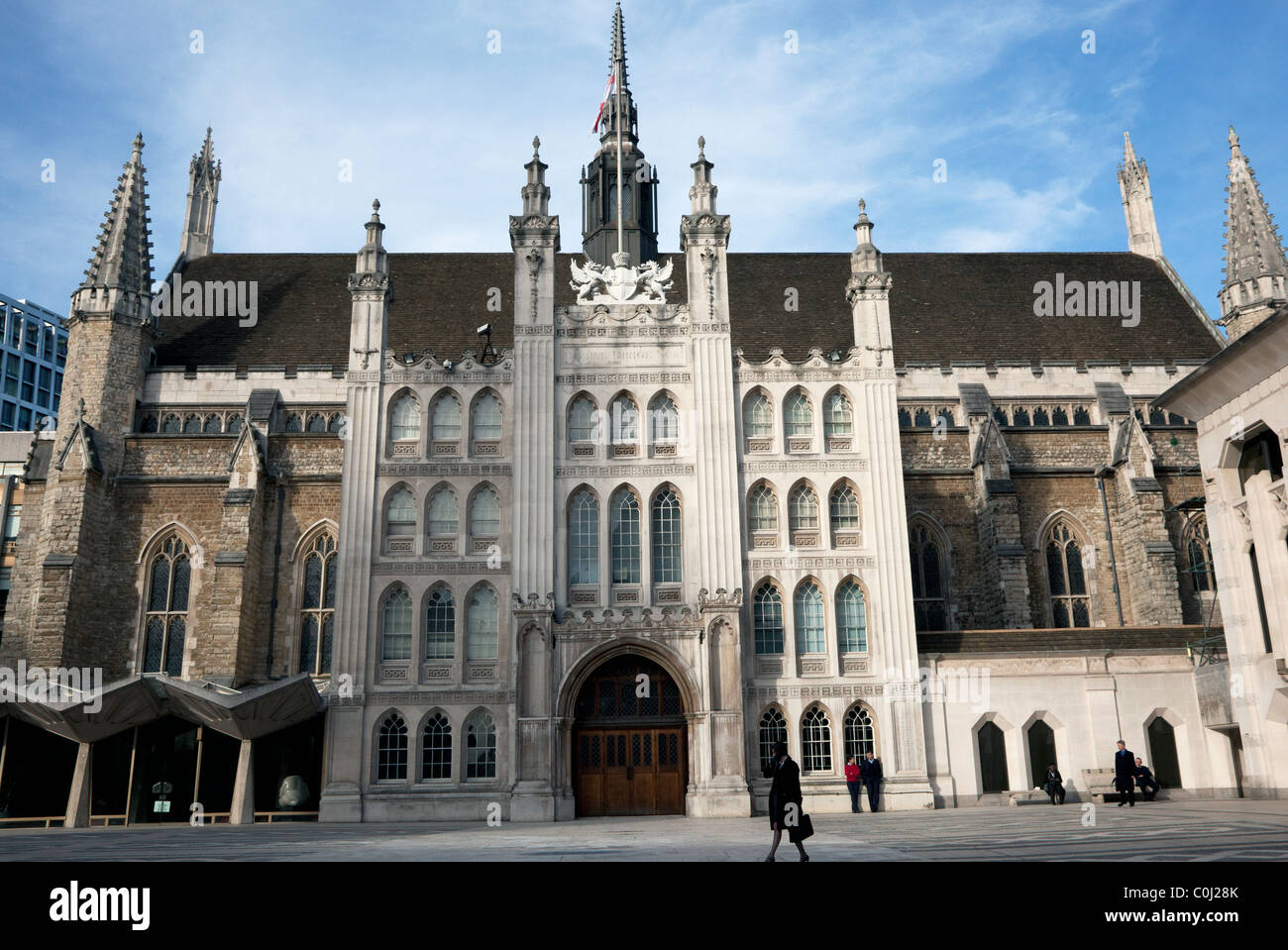 Guildhall in the City of London - Stock Image