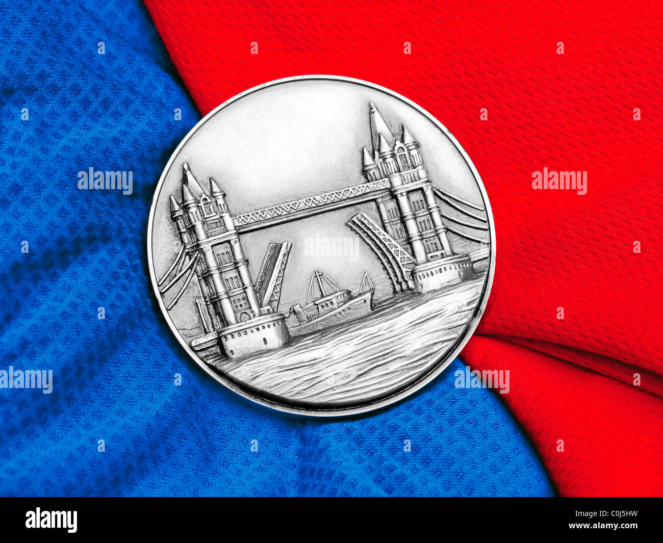 1981 The Gillette London Marathon finisher's medal - UK. - Stock Image