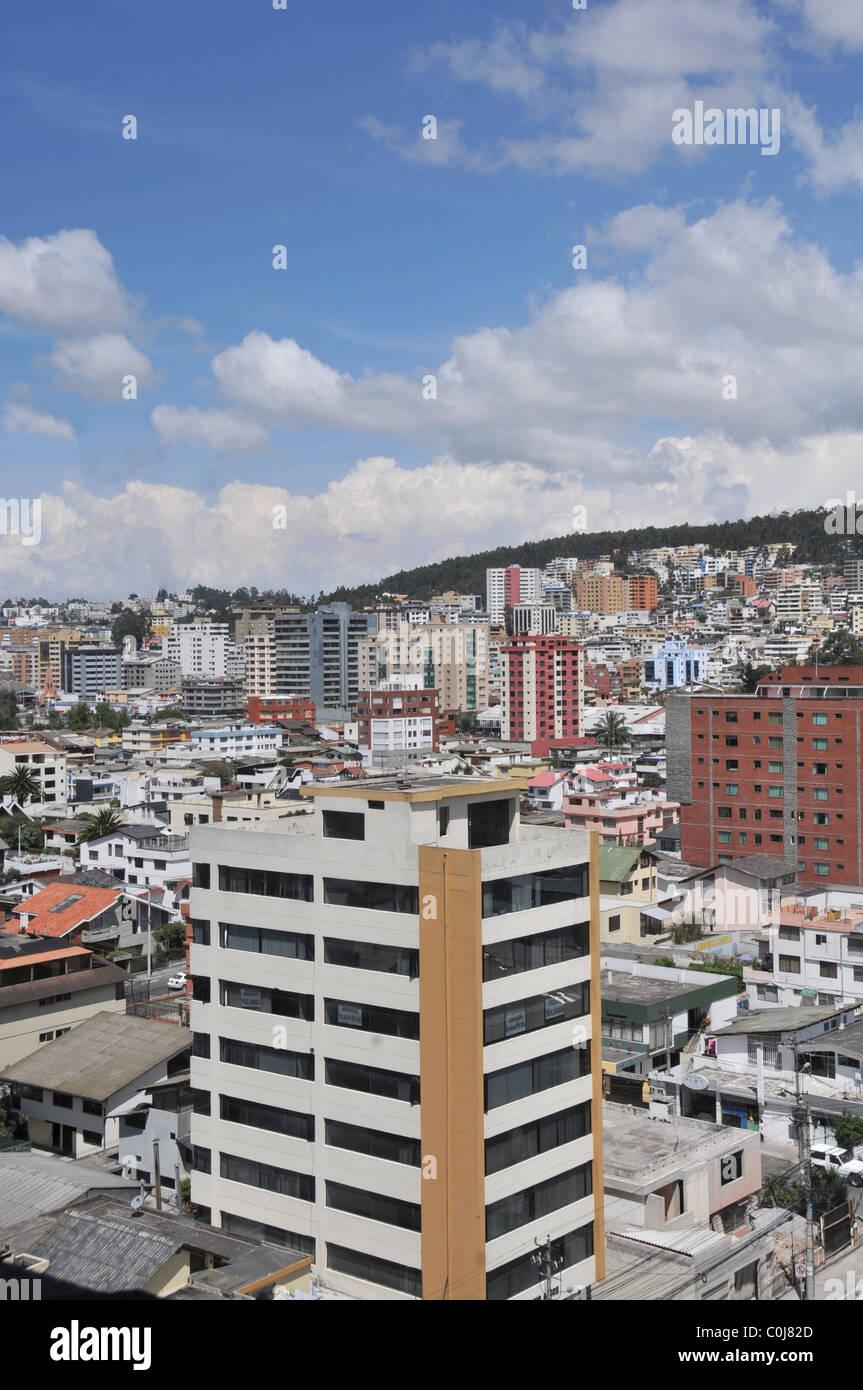 modern city Quito Ecuador - Stock Image