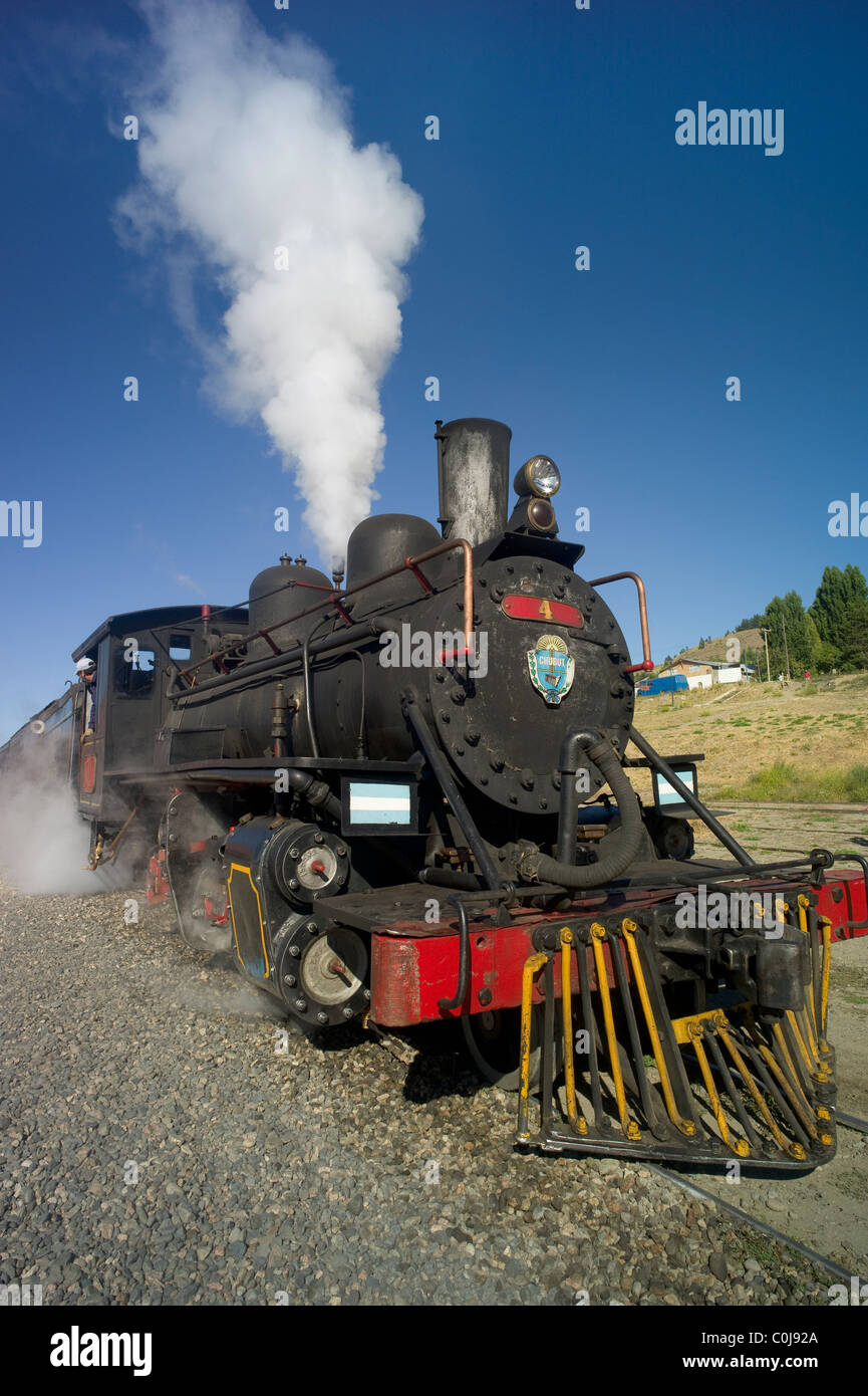 Locomotive of the Old Patagonia Express, Esquel, Chubut, Argentina - Stock Image