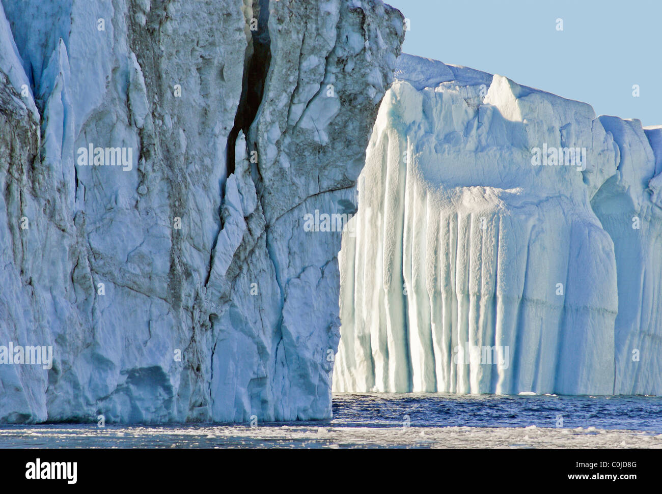 Iceberg on a clear sunny day - Stock Image