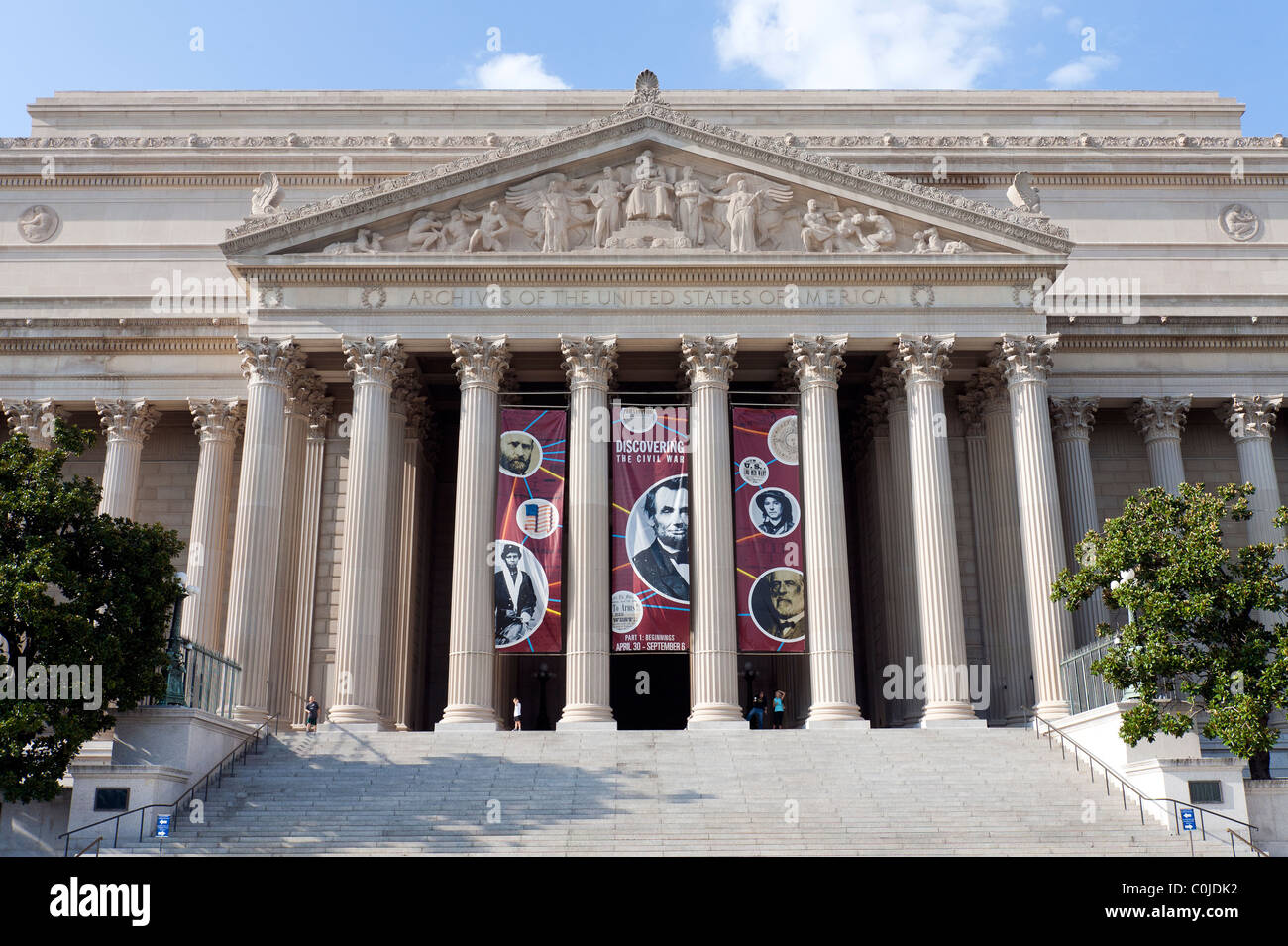 The National Archives of the United States of America. - Stock Image