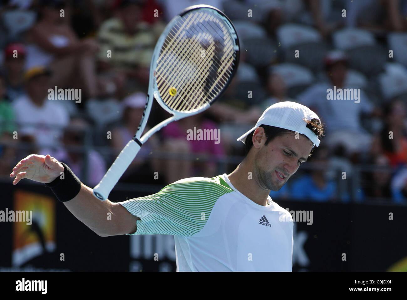 Novak Djokovic, Serbia,  in action during the Medibank International, Sydney. - Stock Image