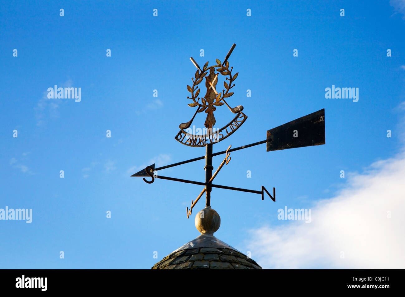 Weathervane at the St Andrews Links Clubhouse Fife Scotland - Stock Image