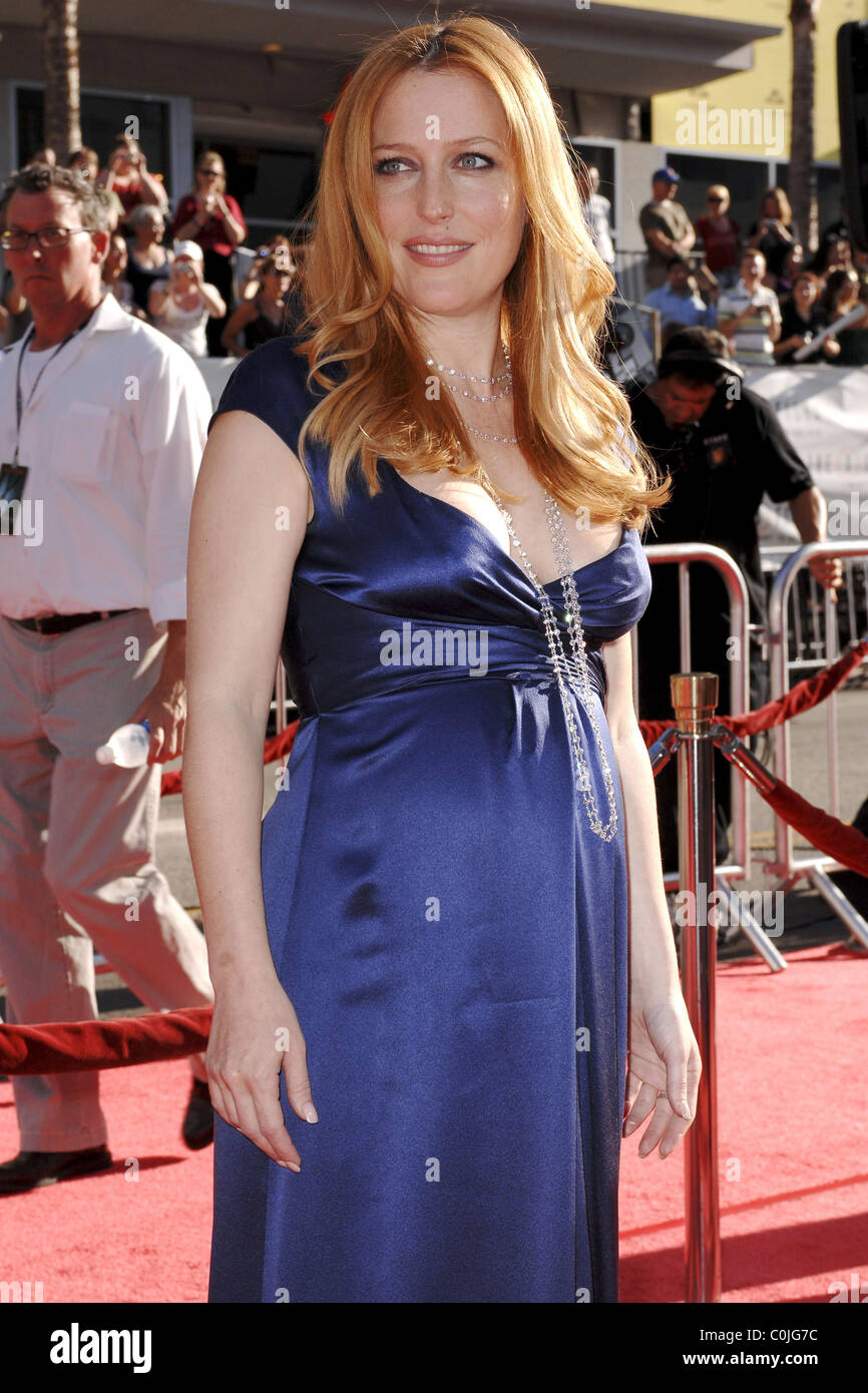 Gillian Anderson World Premiere Of The X Files 'I want to Believe' at the Grauman Chinese theater Hollywood, - Stock Image