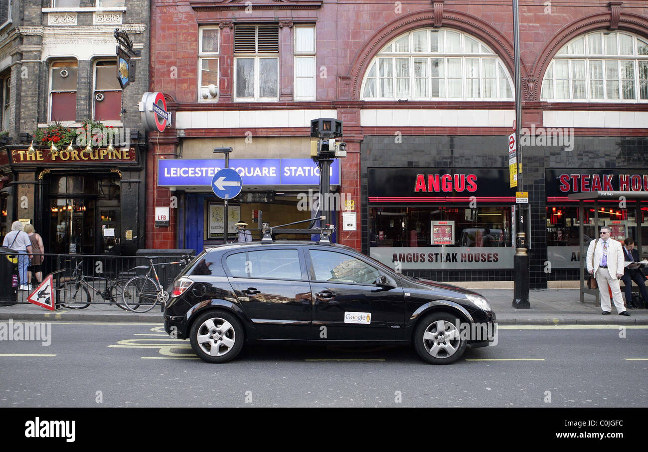 Central London Google Map.A Google Maps Car Drives Through Central London Recording Images For