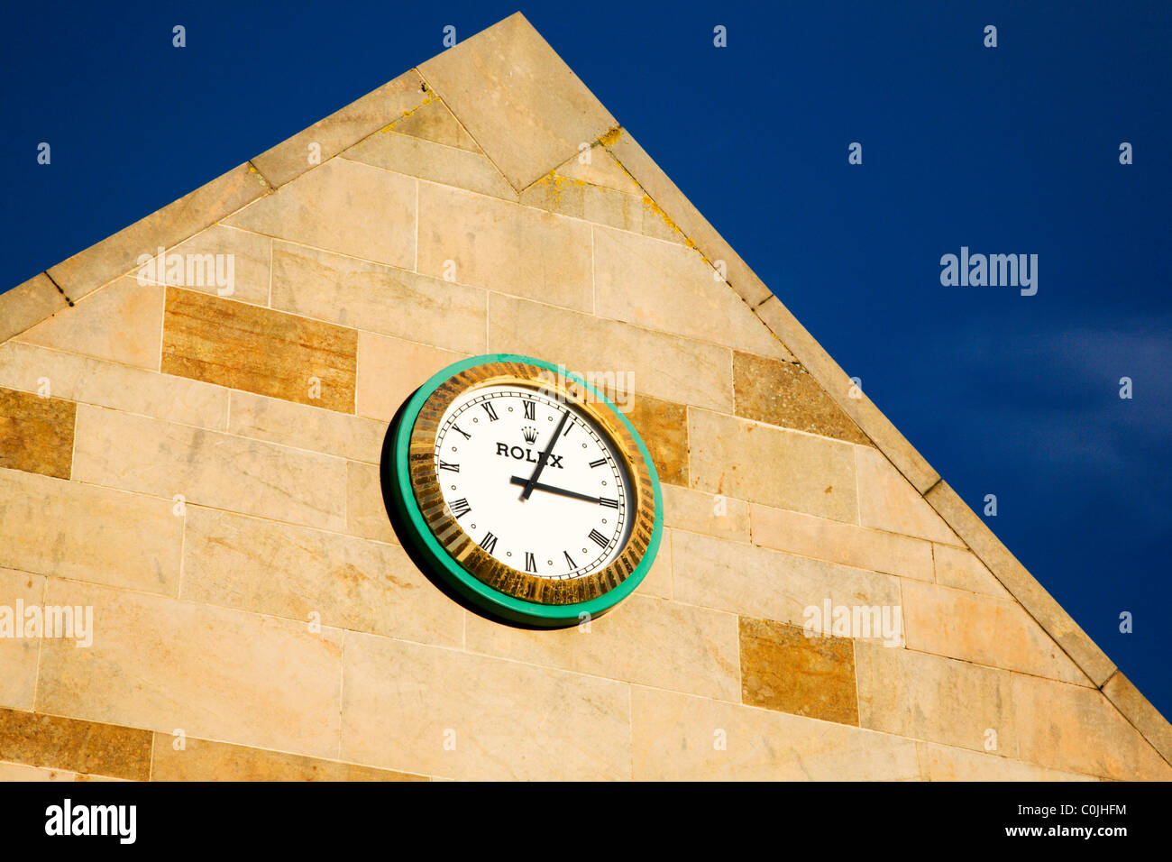 St Andrews Links Clubhouse Clock St Andrews Fife Scotland - Stock Image