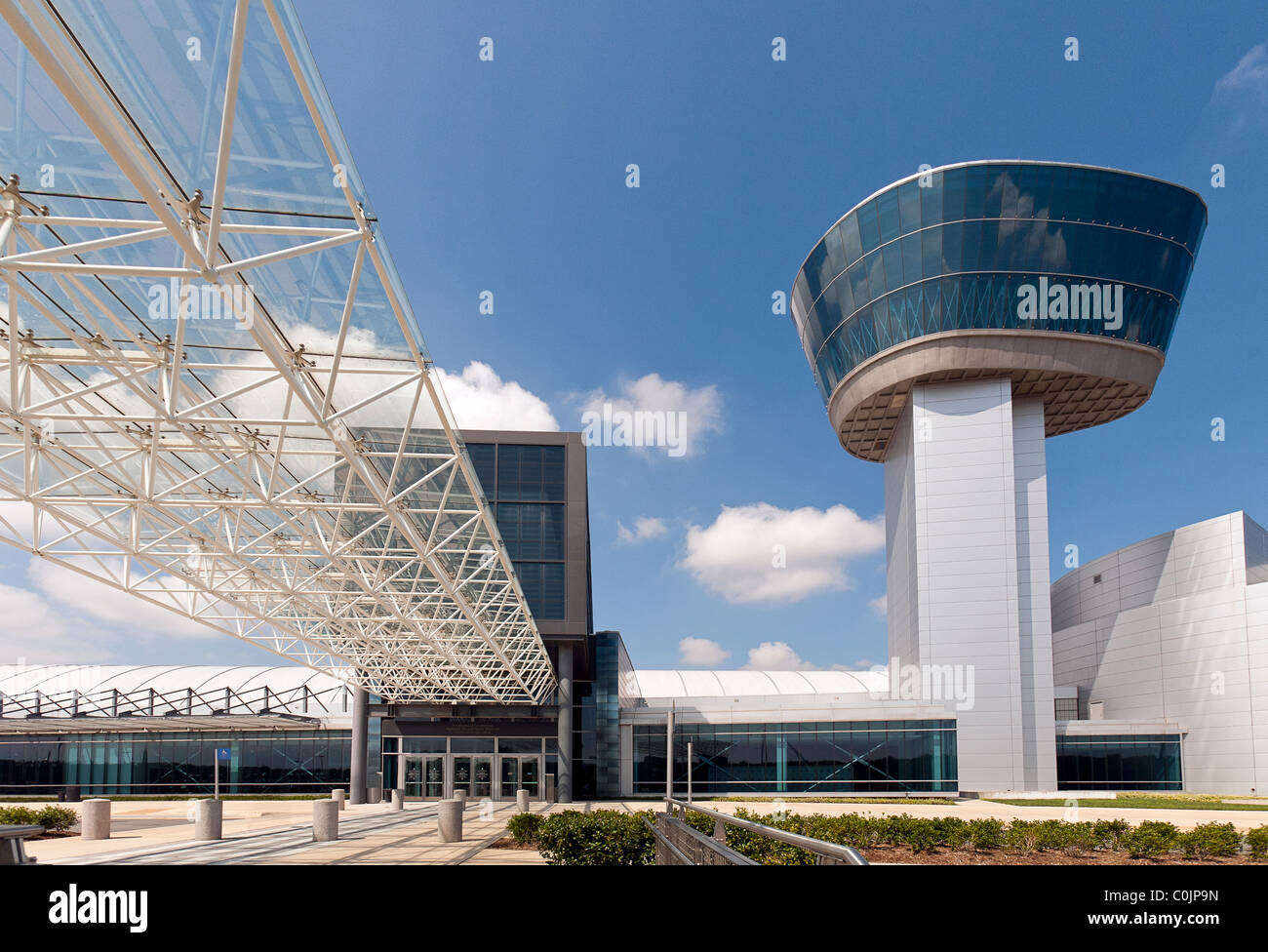 The Steven F. Udvar-Hazy Center - division of the Smithsonian Museum, Washington, DC. - at the Washington Dulles - Stock Image
