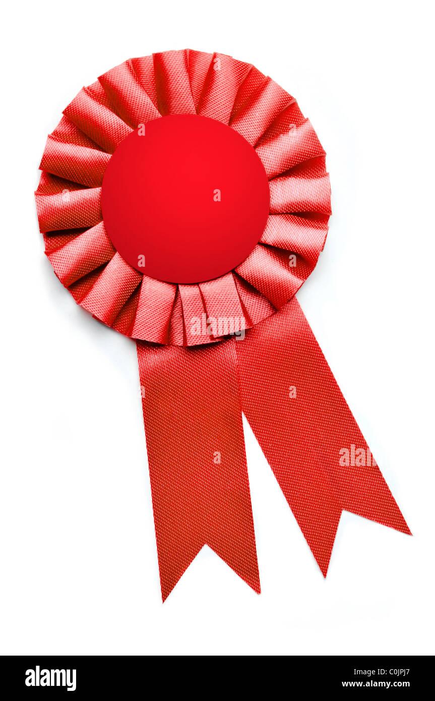 award presentation ribbon on white background - Stock Image