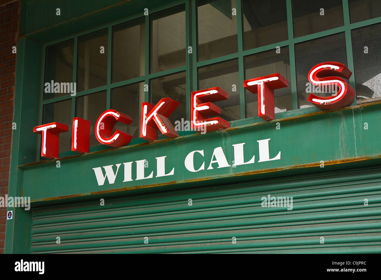 Ticket Booth - Stock Image
