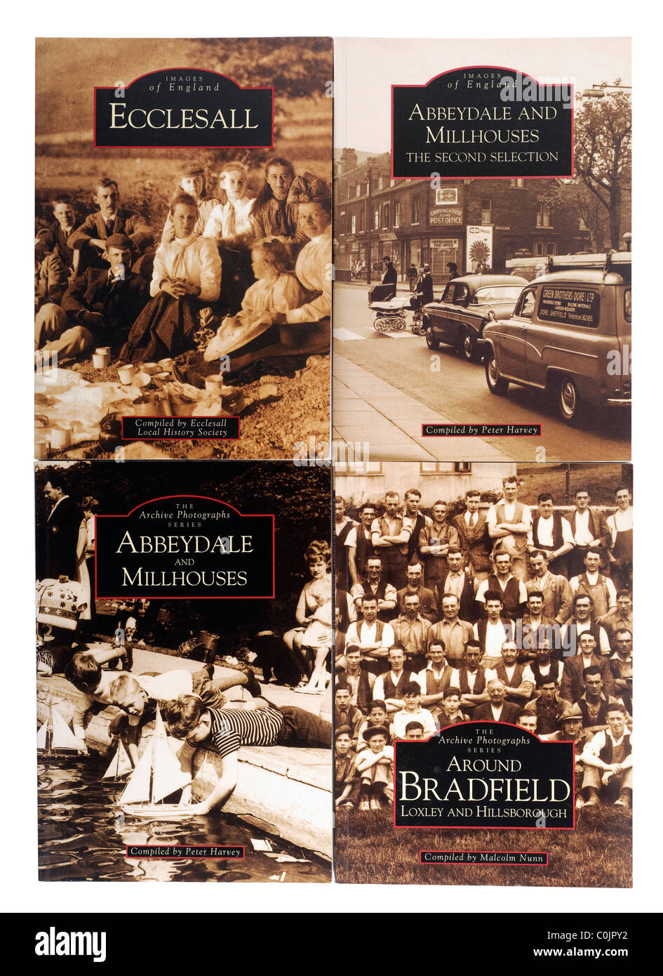 Four books The Archive Photographs Series on the changes through the years of areas of Sheffield. EDITORIAL ONLY - Stock Image