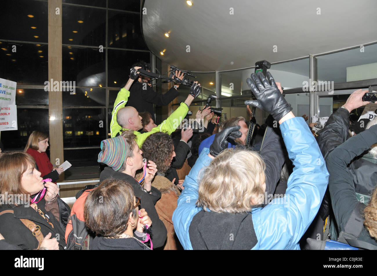Haringey Council protest Haringey Civic Centre Wood Green - Stock Image