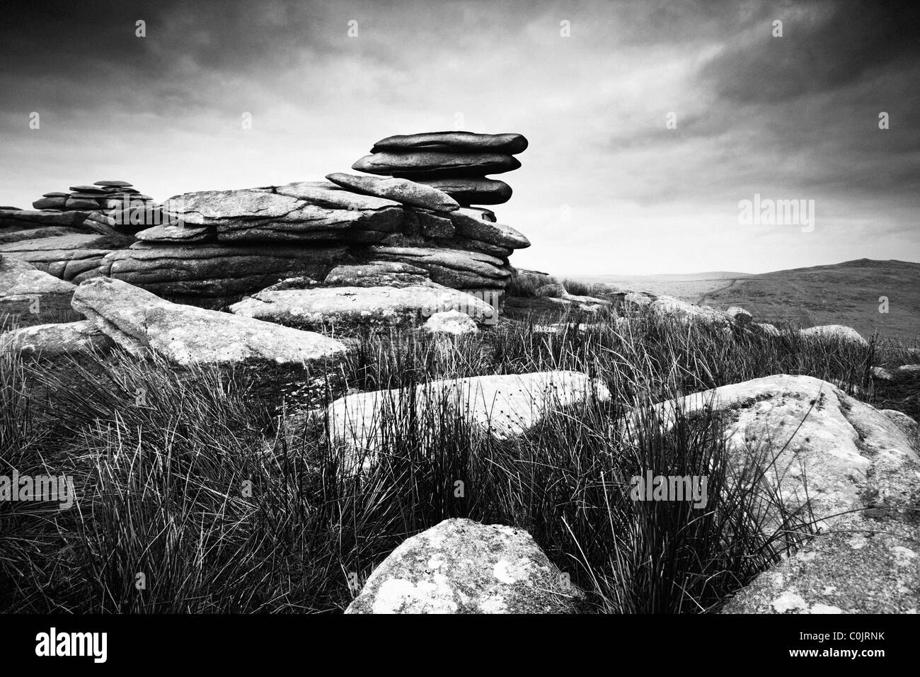Rough Tor. Bodmin Moor. Cornwall. England. UK. - Stock Image