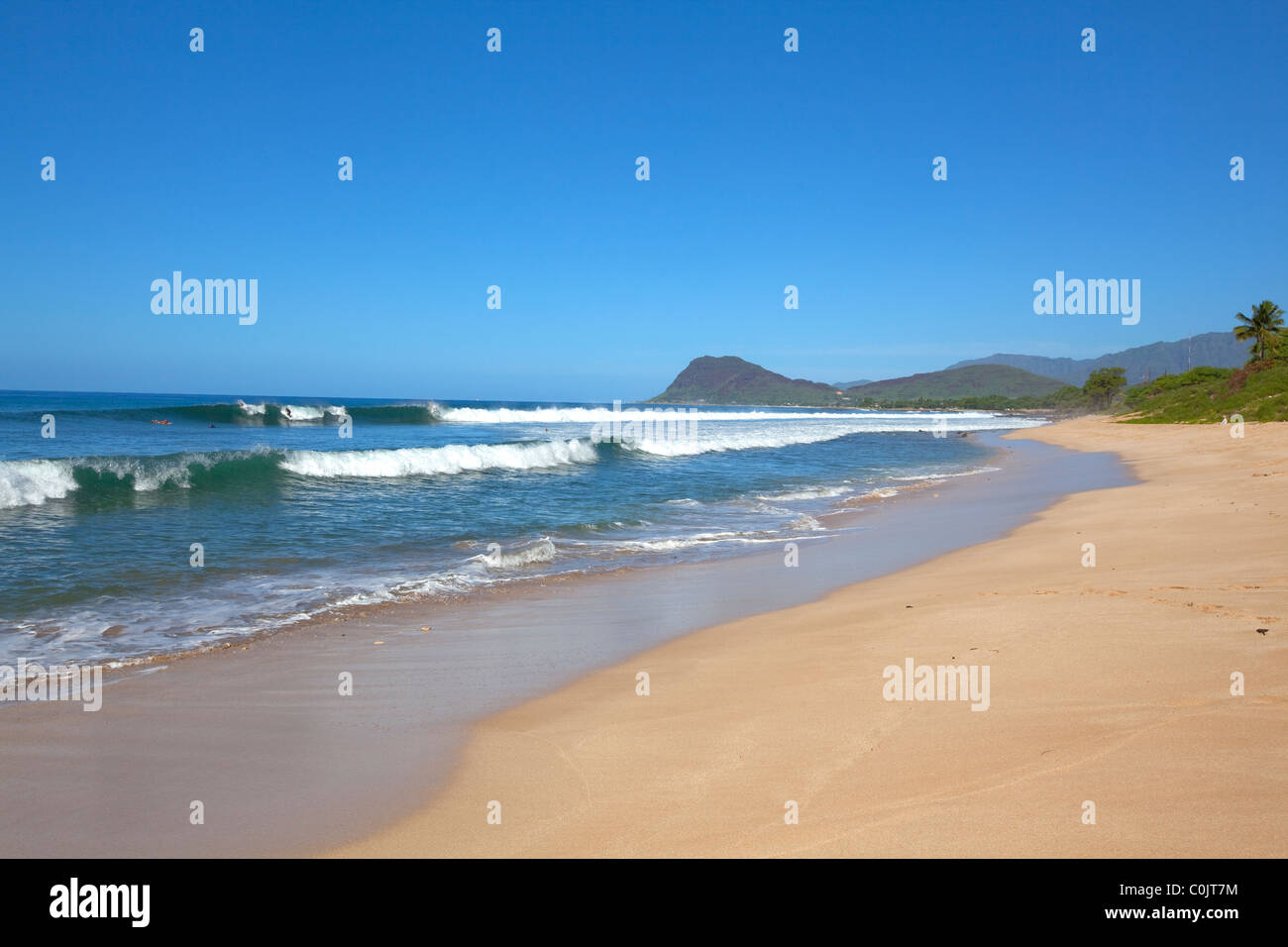 Tracks Beach, Leeward Coast, Oahu, Hawaii - Stock Image